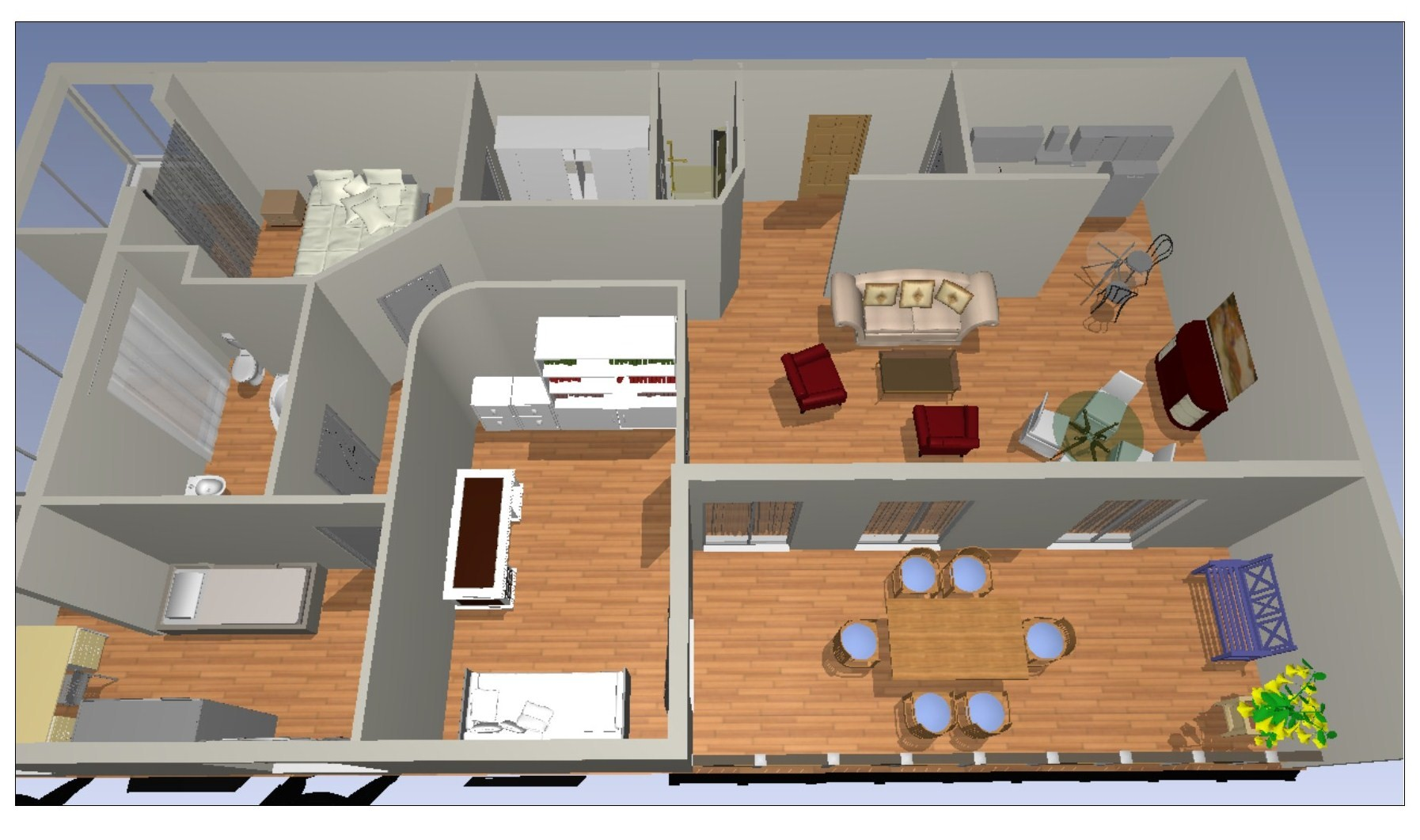 Prospettiva Appartamento in vendita a Napoli via Scarlatti