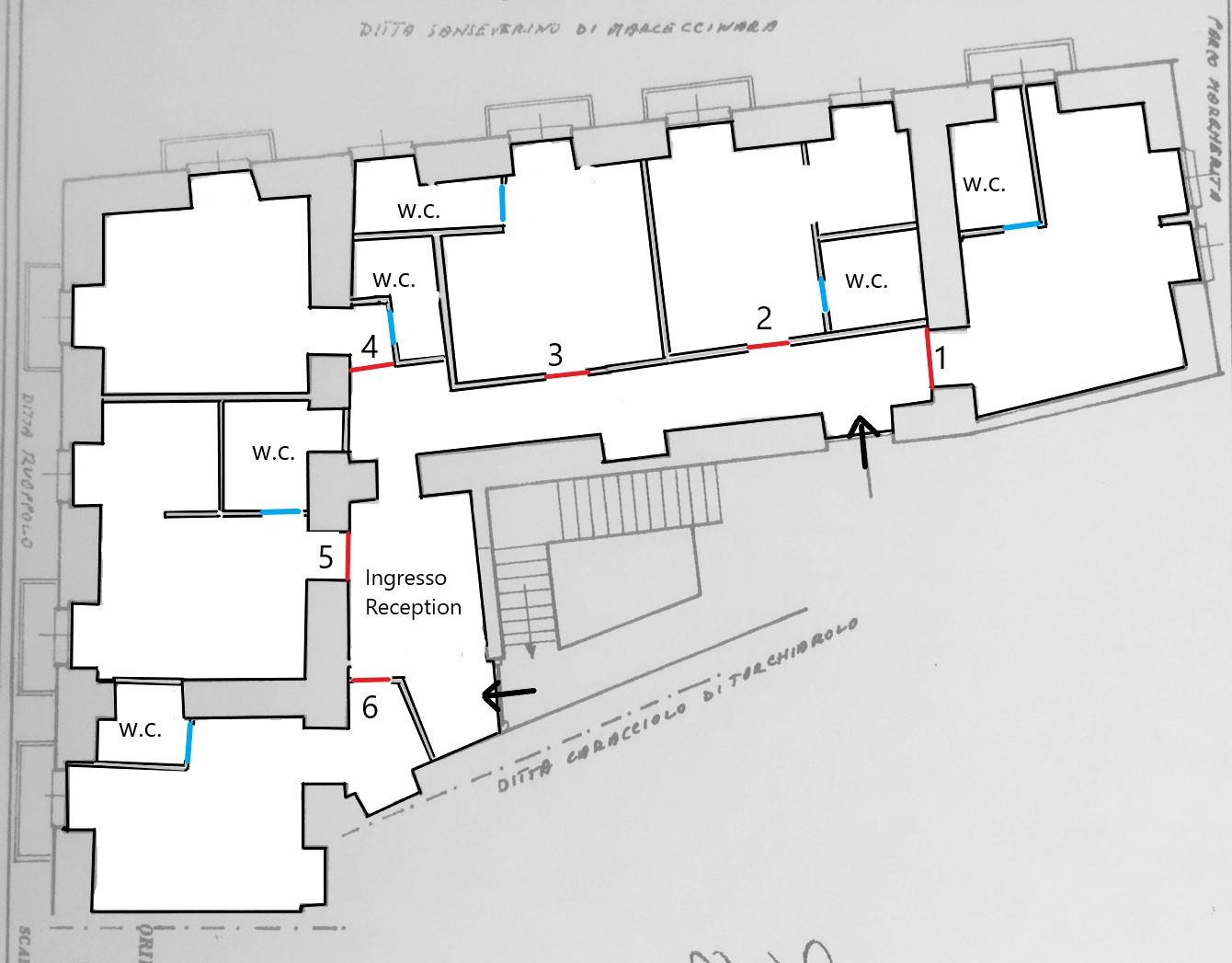 planimetria parco margherita progetto per attività