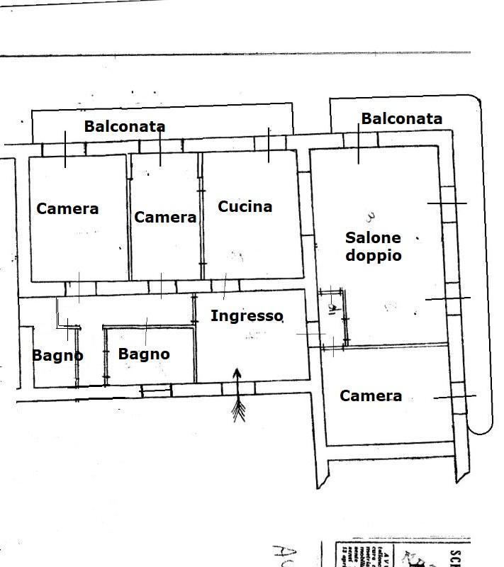 planimetria via Donizetti 5 vani